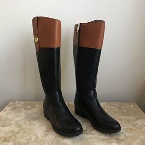 NWOT Tommy Hilfiger Riding Boot Black/Cognac sz 6